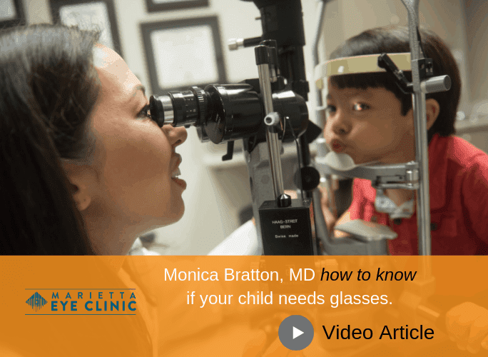 Monica Bratton, MD helps you know in this video if your child might need glasses.