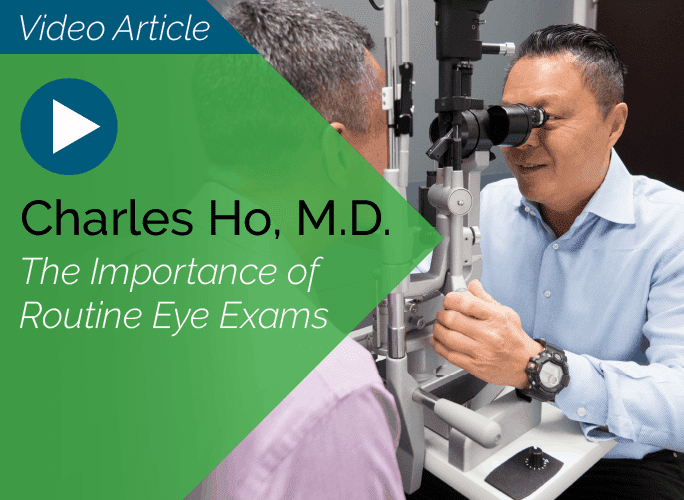 Dr. Charles Ho is a comprehensive ophthalmologist at the Marietta Eye Clinic who specializes in cataracts, pediatrics, and adult strabismus.