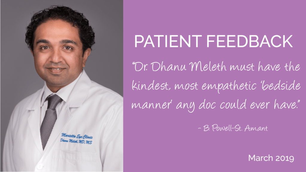 Dr. Dhanu Meleth is an opthalmologist and retina specialist at the Marietta Eye Clinic.