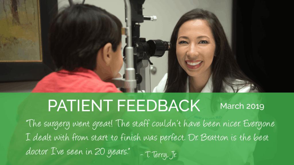 Monica Bratton, MD is a pediatric ophthalmologist at the Marietta Eye Clinic.