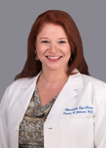 Denise Johnson, MD provides cataract surgery services at the Marietta Eye Clinic.
