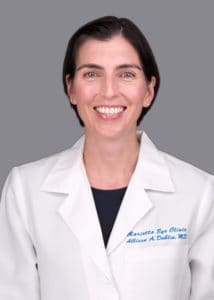 Allison Dublin, MD provides cataract surgery services at the Marietta Eye Clinic.