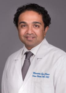 Dhanu Meleth, MD is a retina specialist at the Marietta Eye Clinic.