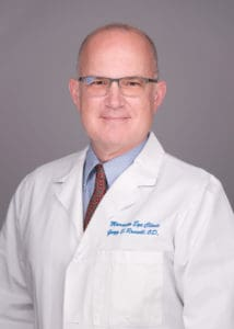 Gregg Russell provides keratoconus treatment services at the Marietta Eye Clinic.
