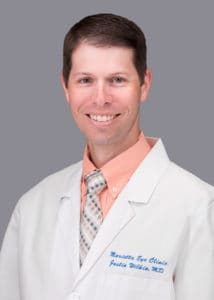 Justin Wilkin, MD provides cataract surgery services at the Marietta Eye Clinic.