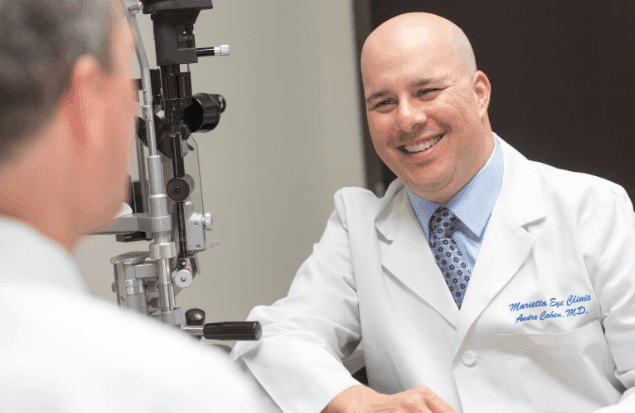 Andre Cohen, MD is a Lasik surgeon at the Marietta Eye Clinic.