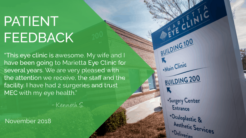 The Marietta Eye Clinic provides comprehensive eye care services.