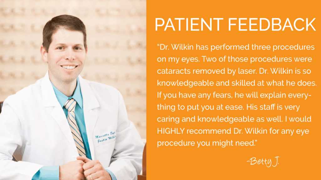 Dr. Wilkin provides comprehensive ophthalmology and cataract surgery services.