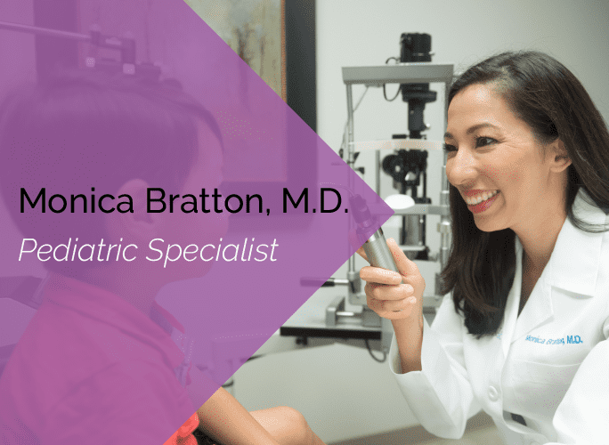 Monica Bratton, M.D. is an ophthalmologist and pediatric specialist at the Marietta Eye Clinic.