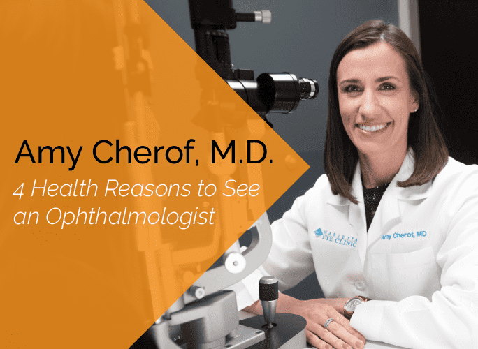 Dr. Amy Cherof is an ophthalmologist and cataract specialist at the Marietta Eye Clinic.