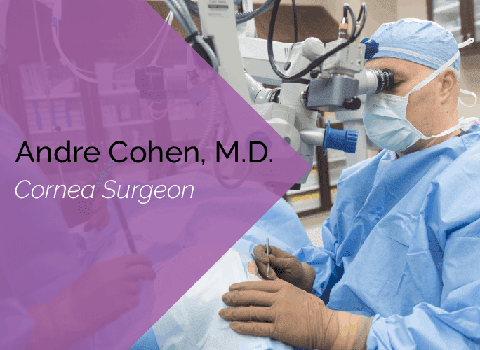 Dr. Cohen is a cornea surgeon and ophthalmologist at the Marietta Eye Clinic.