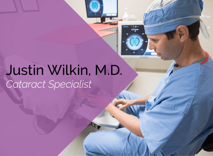 Dr. Wilkin is an ophthalmologist and cataract surgeon at the Marietta Eye Clinic.