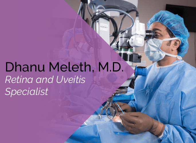 Dr. Meleth is an ophthalmologist at the Marietta Eye Clinic who specializes in retina and uveitis.