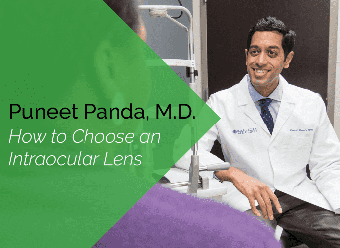 Dr. Panda is an ophthalmologist and cataract specialist with the Marietta Eye Clinic.