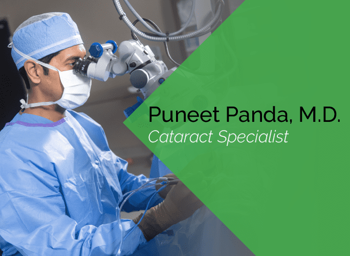 Dr. Panda is an ophthalmologist and cataract specialist at the Marietta Eye Clinic.