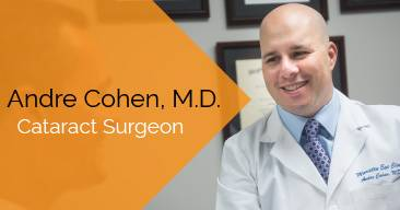 Andre Cohen, MD provides cataract surgery services at the Marietta Eye Clinic.