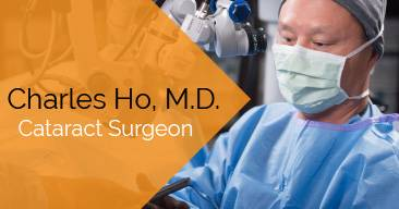 Charles Ho, MD provides cataract surgery services at the Marietta Eye Clinic.