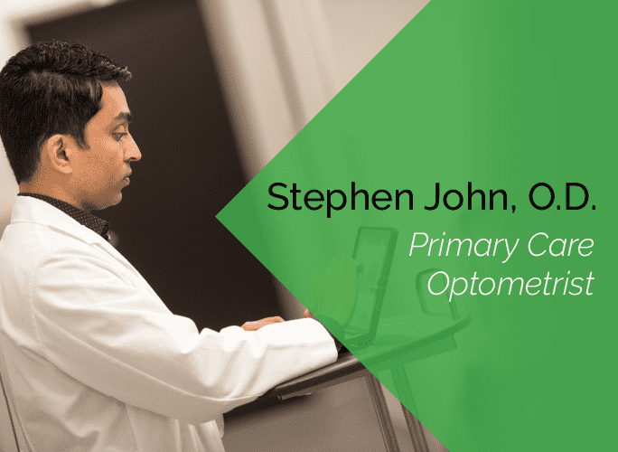 Dr. John is a primary care optometrist who specializes in ocular disease and provides ocular surgery co-management.
