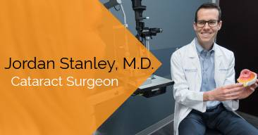 Jordan Stanley, MD provides cataract surgery services at the Marietta Eye Clinic.