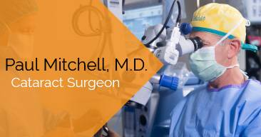 Paul Mitchell, MD provides cataract surgery services at the Marietta Eye Clinic.