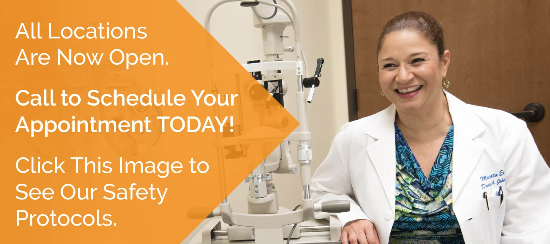 Dr. Denise Johnson is a comprehensive ophthalmologist at the Marietta Eye Clinic who specializes in cataracts, dry eye, and cosmetic treatments.