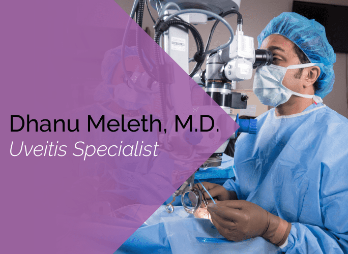 Dr. Dhanu Meleth is an ophthalmologist with the Marietta Eye Clinic who specializes in retina and uveitis.