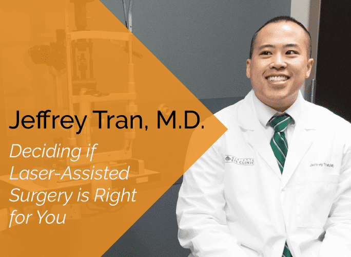 Dr. Jeffrey Tran is a comprehensive ophthalmologist and cataract surgeon at the Marietta Eye Clinic.