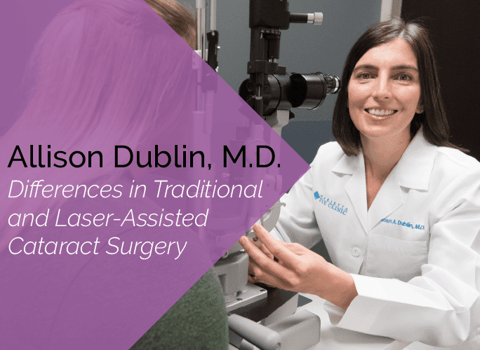 Dr. Allison Dublin is a comprehensive ophthalmologist, glaucoma specialist, and cataract surgeon at the Marietta Eye Clinic.