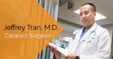 Jeffrey Tran, MD provides cataract surgery services at the Marietta Eye Clinic.