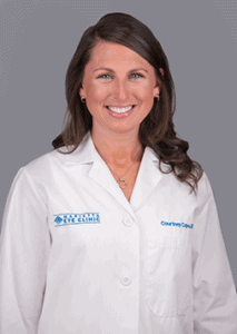 Courtney Cape, O.D. is an optometrist at the Marietta Eye Clinic.