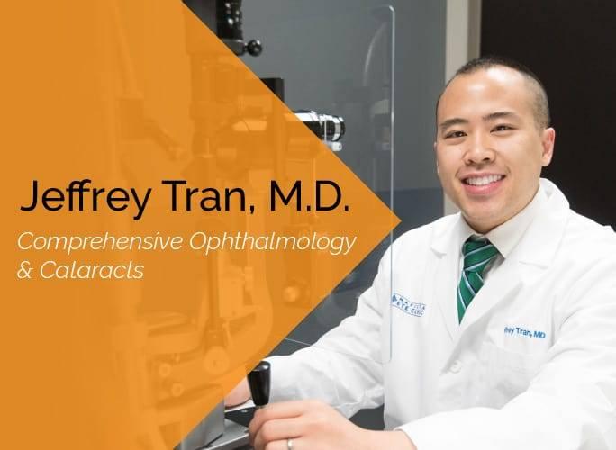 Jeffrey Tran, M.D. is an ophthalmologist at the Marietta Eye Clinic